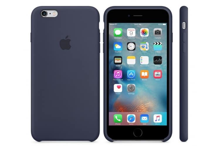 Apple silikónový obal pre iPhone 6 / 6S – polnočne modrý 4