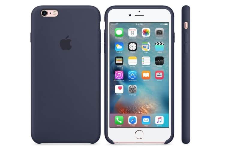 Apple silikónový obal pre iPhone 6 / 6S – polnočne modrý 5