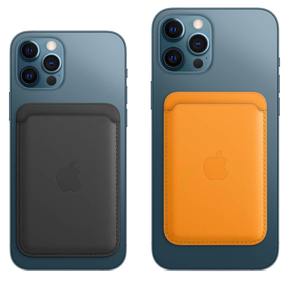 Kožená peňaženka s MagSafe pre iPhone - oranžová 3