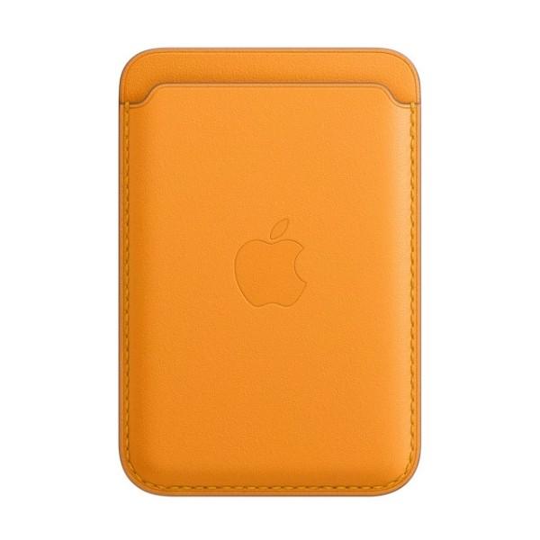 Kožená peňaženka s MagSafe pre iPhone - oranžová 1