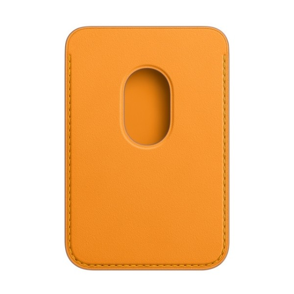 Kožená peňaženka s MagSafe pre iPhone - oranžová 2