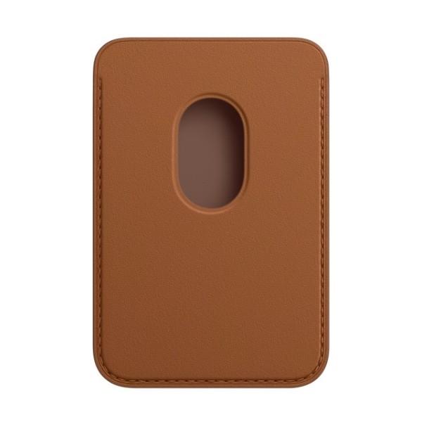 Kožená peňaženka s MagSafe pre iPhone - sedlovo hnedá 2