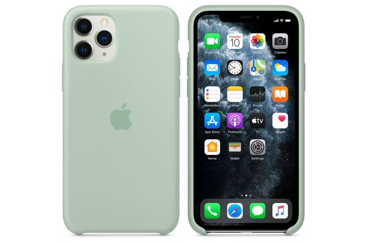 Apple silikónový obal pre iPhone 11 Pro - berylovo zelený 5