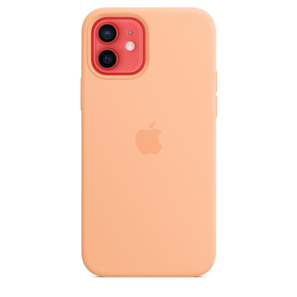 Apple silikónový obal pre iPhone 12/12 Pro – melónovo oranžový 3