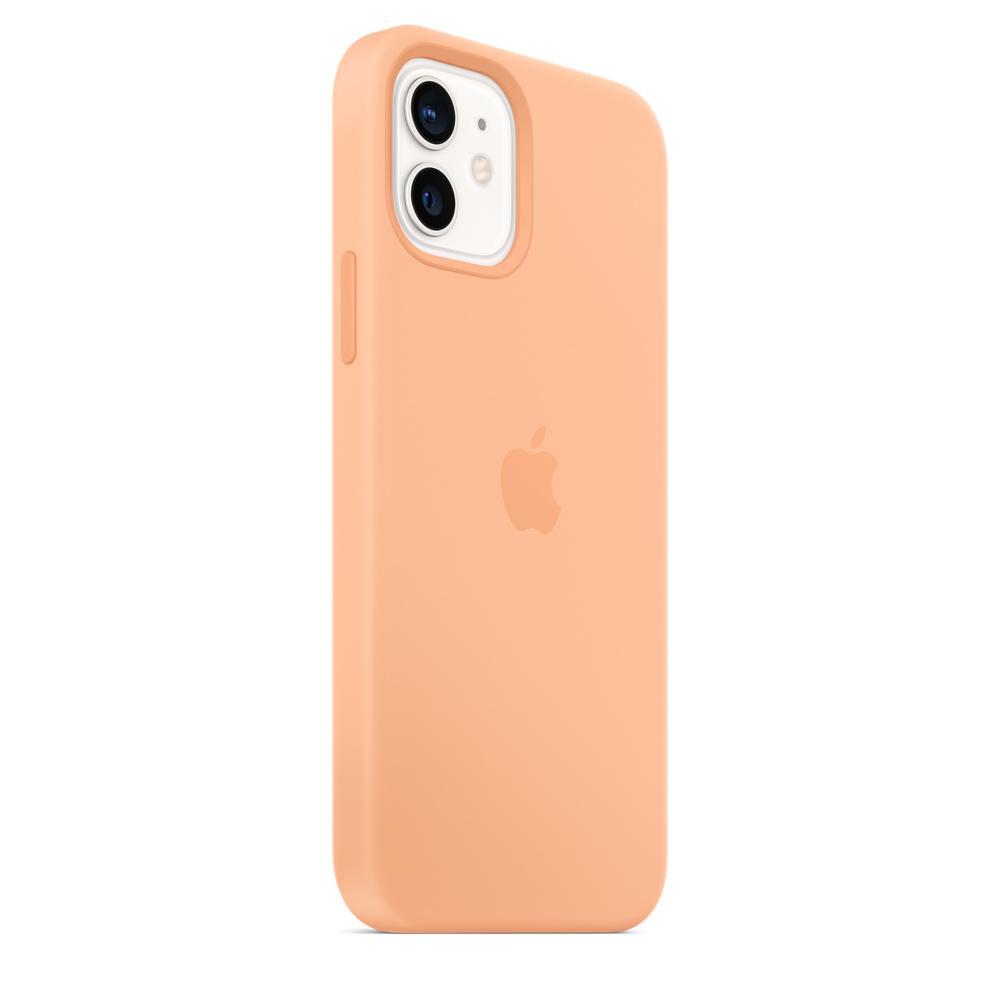 Apple silikónový obal pre iPhone 12/12 Pro – melónovo oranžový 6