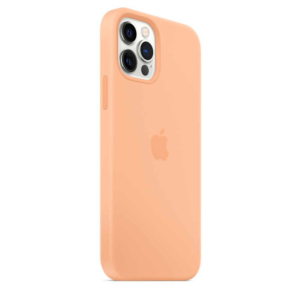 Apple silikónový obal pre iPhone 12/12 Pro – melónovo oranžový 5