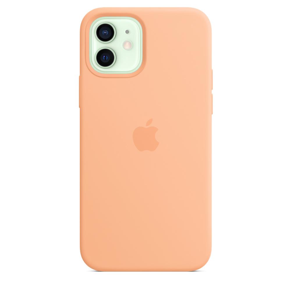 Apple silikónový obal pre iPhone 12/12 Pro – melónovo oranžový 1