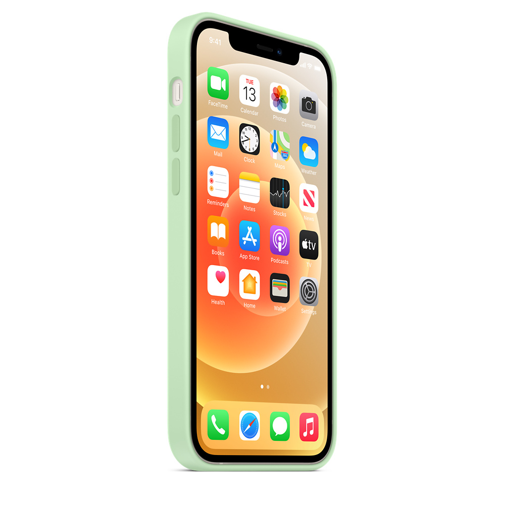 Apple silikónový obal pre iPhone 12/12 Pro – pistáciový 2