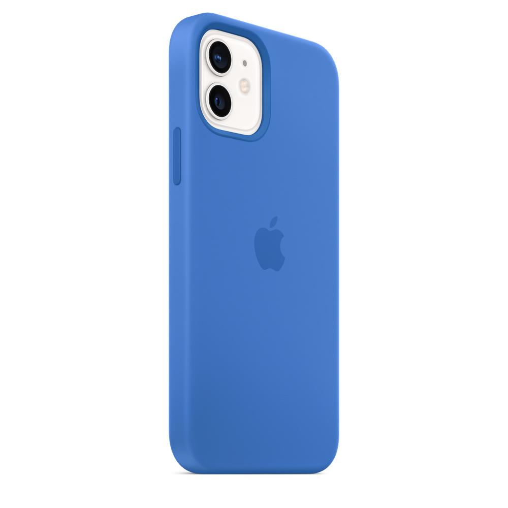 Apple silikónový obal pre iPhone 12/12 Pro – stredomorsky modrý 4