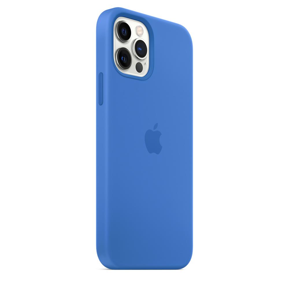 Apple silikónový obal pre iPhone 12/12 Pro – stredomorsky modrý 5