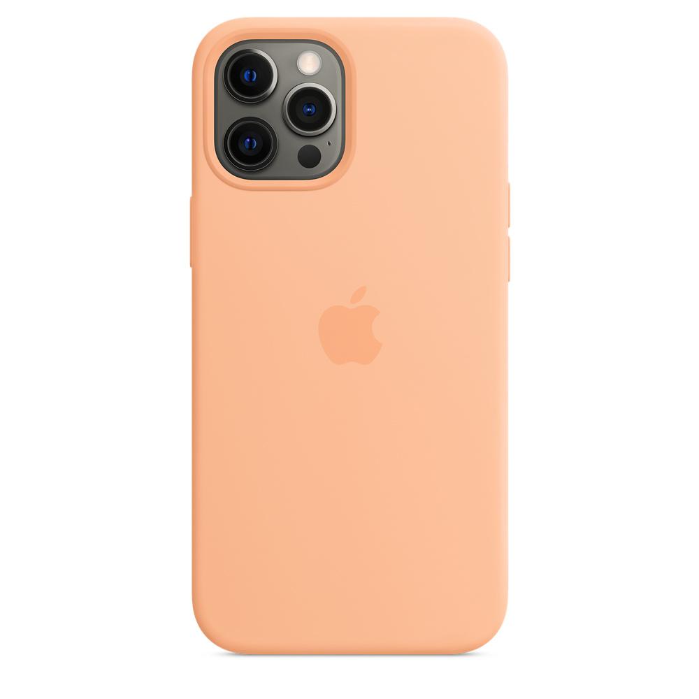 Apple silikónový obal pre iPhone 12 Pro Max – melónovo oranžový 4