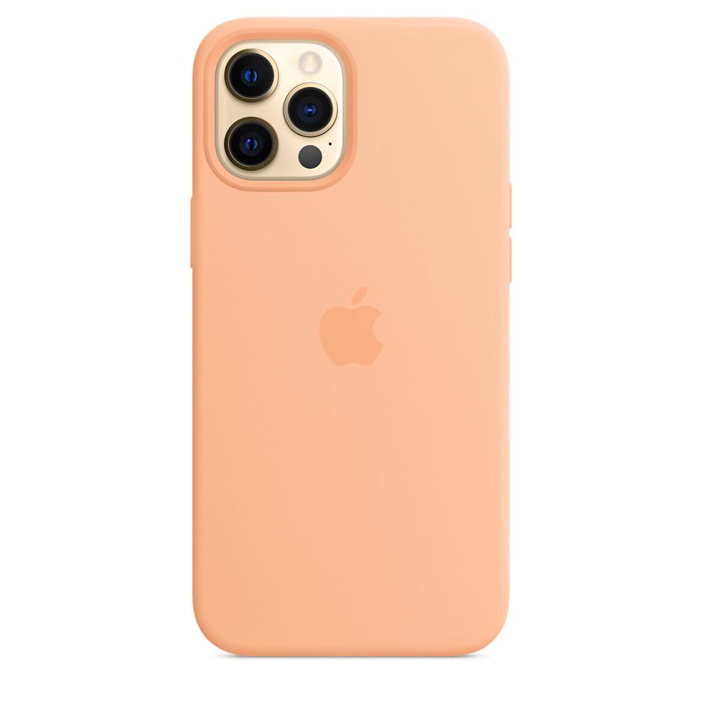 Apple silikónový obal pre iPhone 12 Pro Max – melónovo oranžový 1