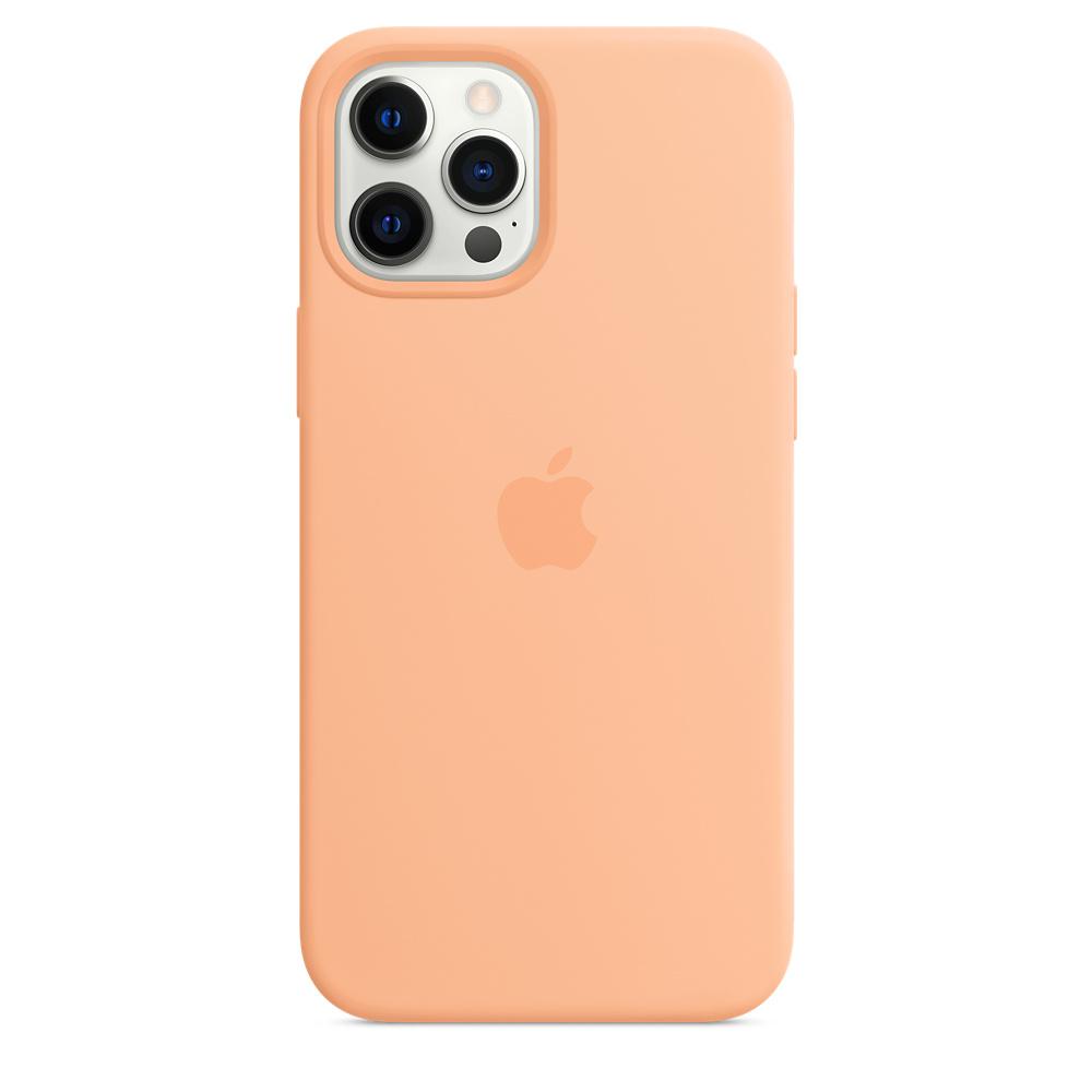 Apple silikónový obal pre iPhone 12 Pro Max – melónovo oranžový 3