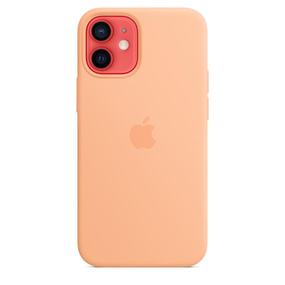 Apple silikónový obal pre iPhone 12 mini – melónovo oranžový 5