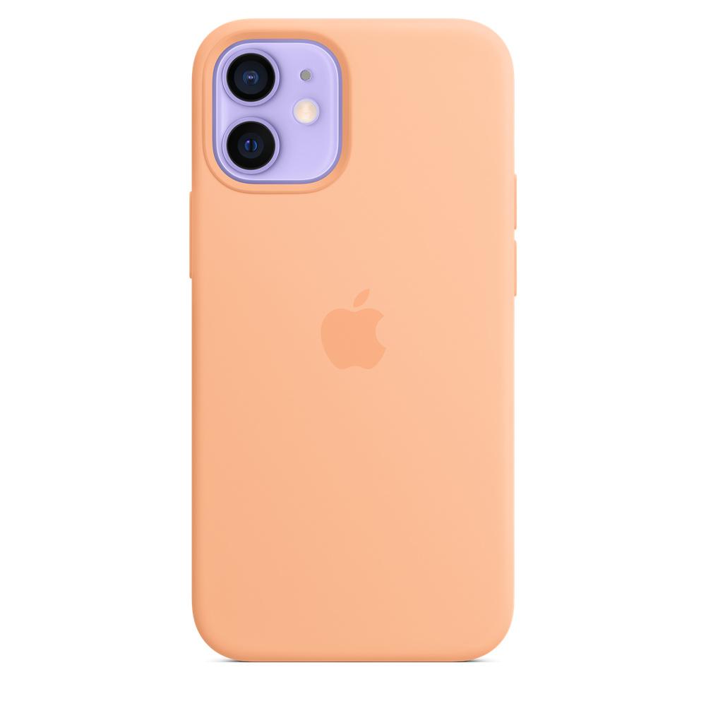 Apple silikónový obal pre iPhone 12 mini – melónovo oranžový 2