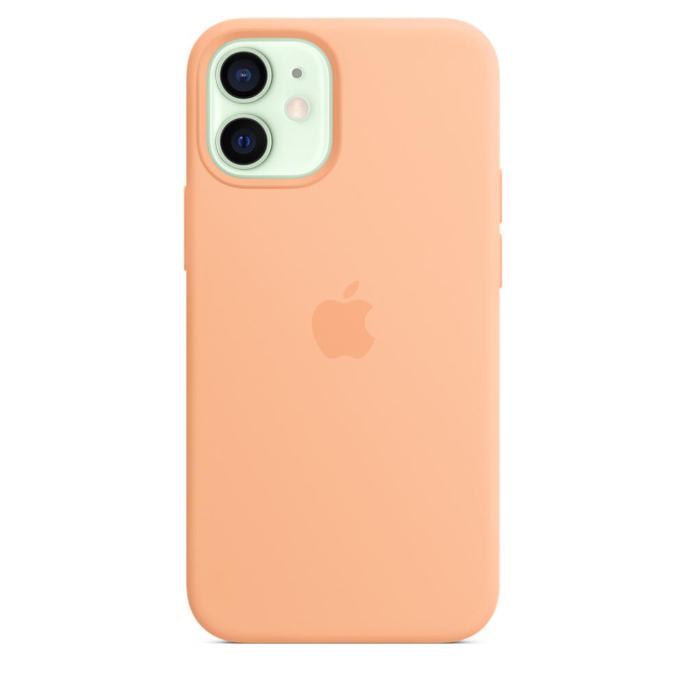 Apple silikónový obal pre iPhone 12 mini – melónovo oranžový 1