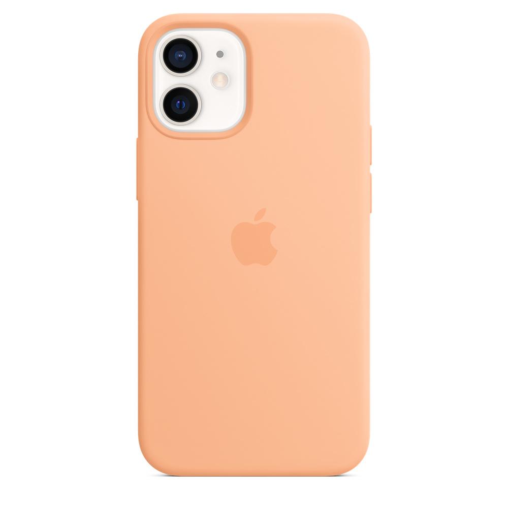 Apple silikónový obal pre iPhone 12 mini – melónovo oranžový 4