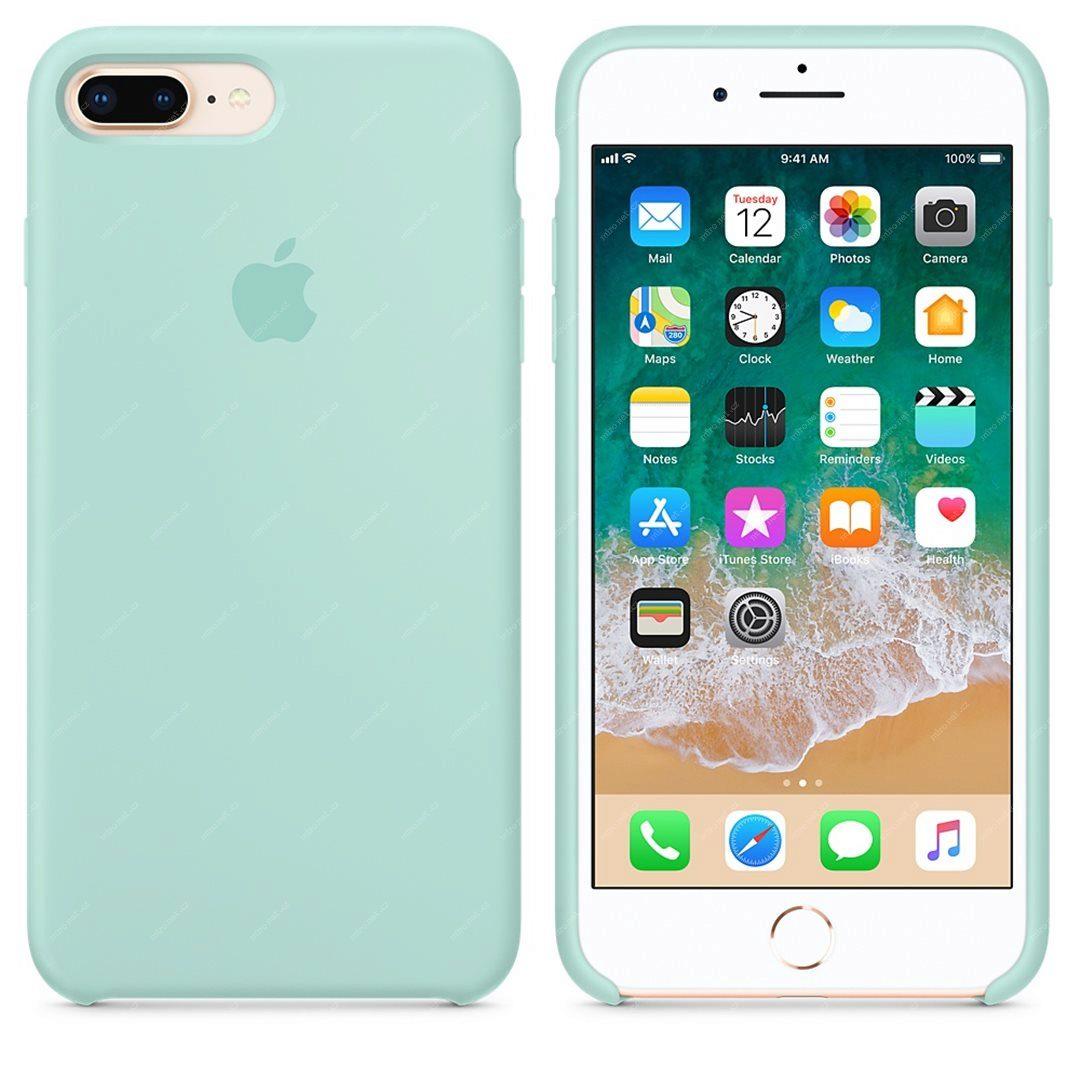 Apple silikónový obal pre iPhone 7 Plus / 8 Plus – nármonícky zelený 4