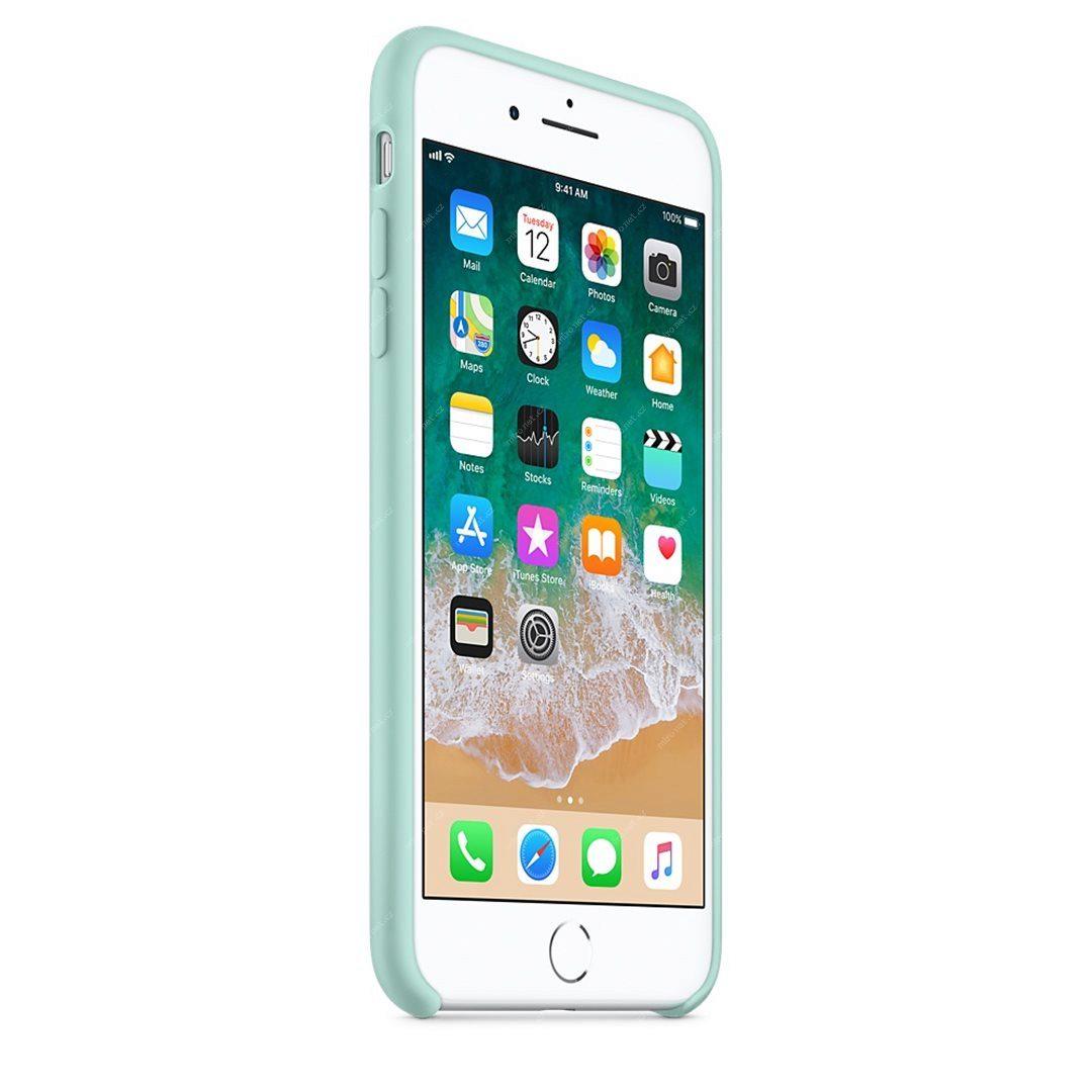 Apple silikónový obal pre iPhone 7 Plus / 8 Plus – nármonícky zelený 2